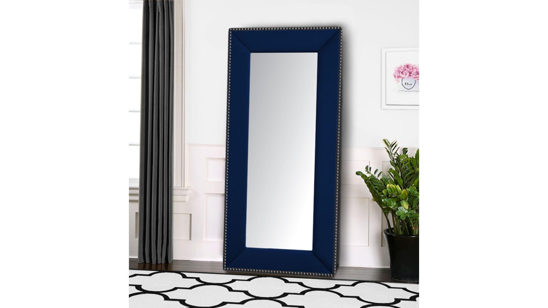 Зеркало напольное с гвоздиками Синее Р