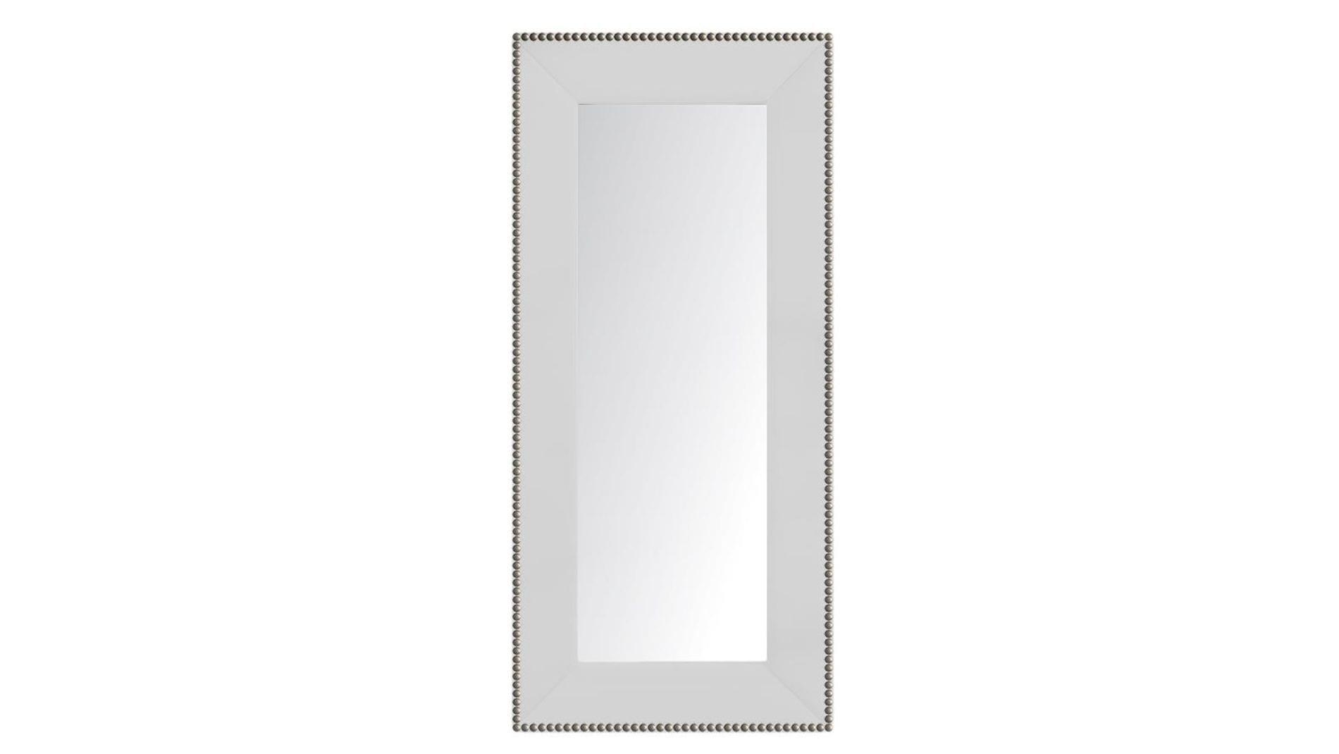 Зеркало напольное с гвоздиками Белое Р