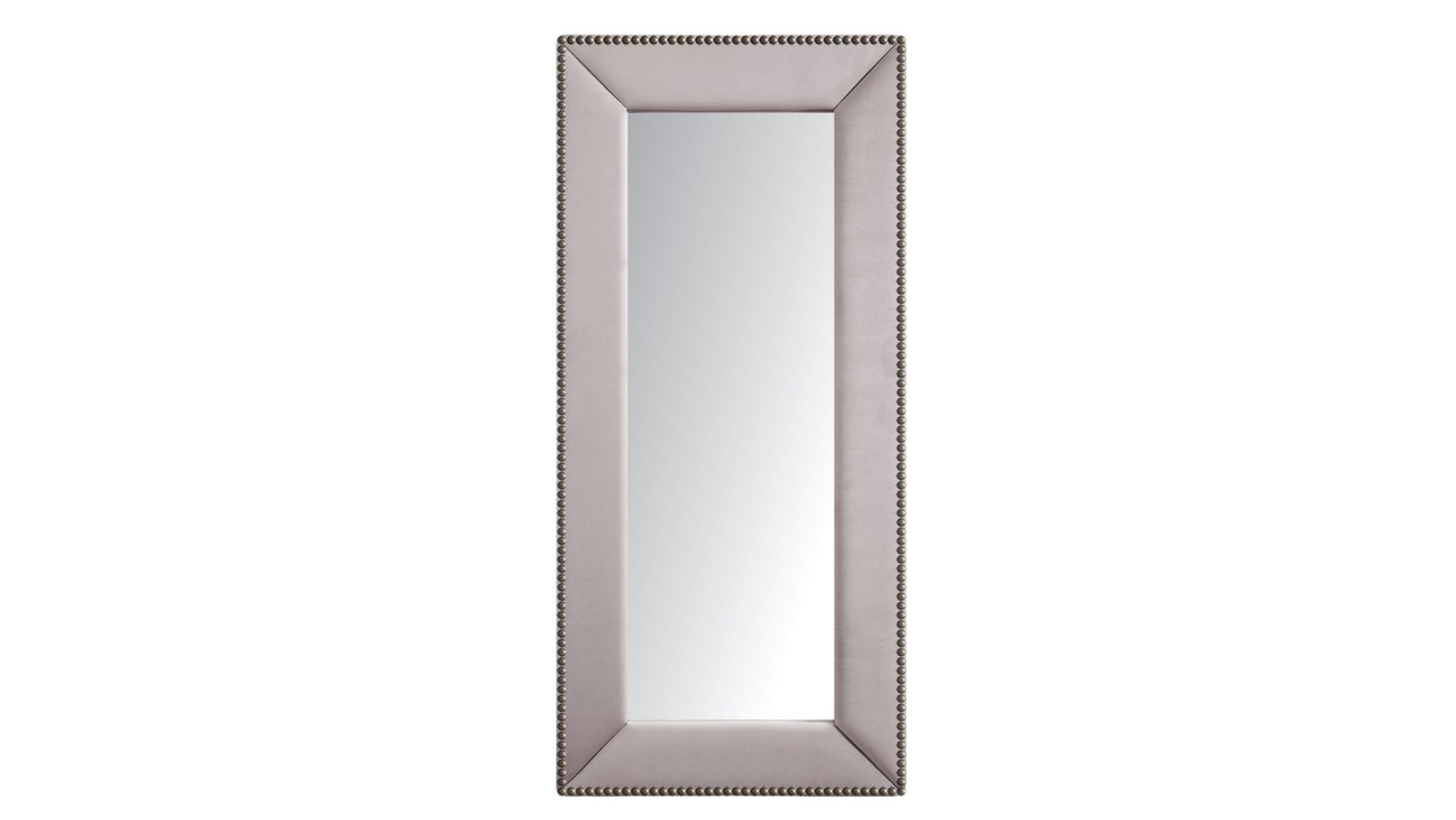 Зеркало напольное с гвоздиками Серо-Розовое Р