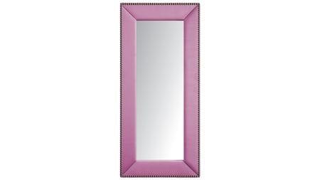 Зеркало напольное с гвоздиками Экокожа Перламутровое Р