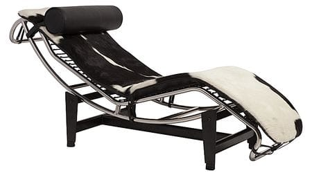 Кушетка Le Corbusier Chaise Lounge Pony Black-White Premium Leather