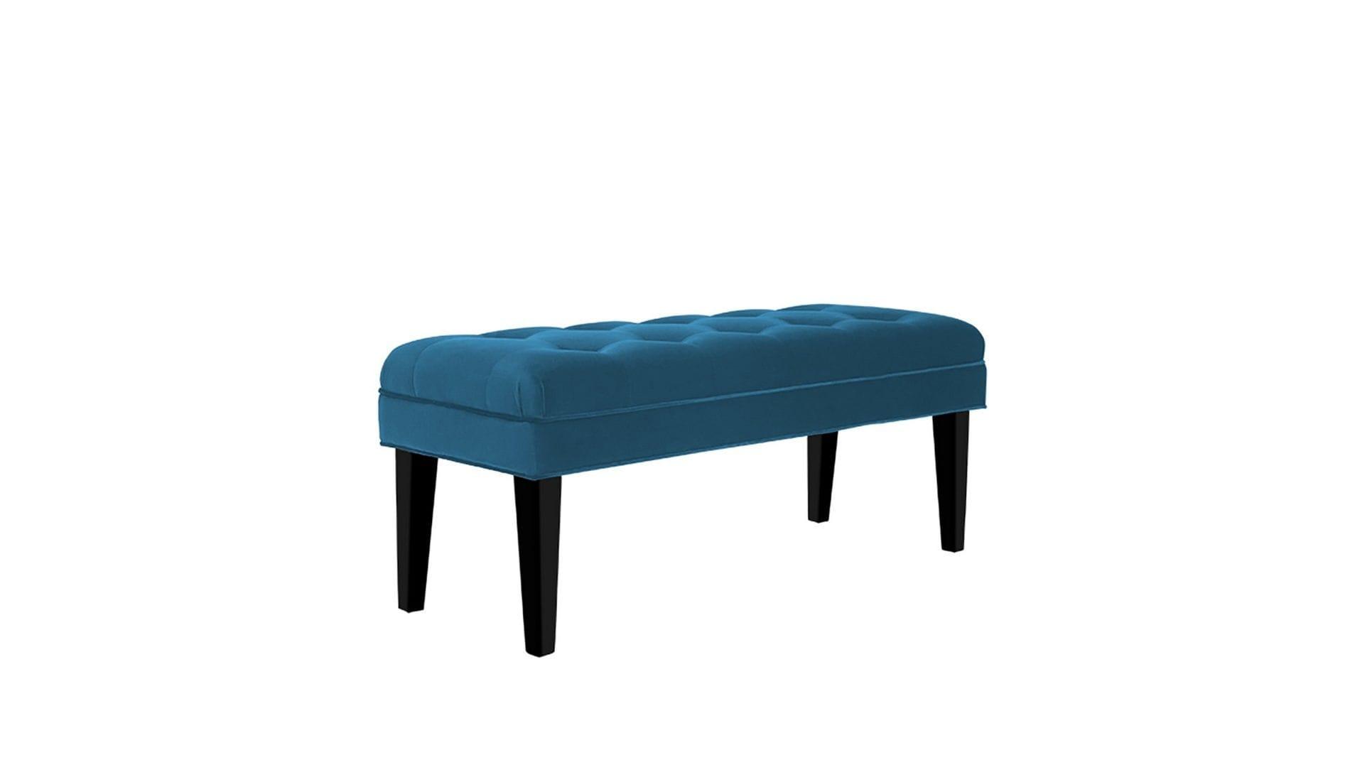Банкетка Mellifluous dark Голубой Велюр Р