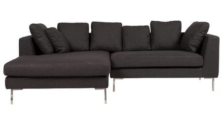Диван Charles Sofa Sectional Left Dark Grey Р
