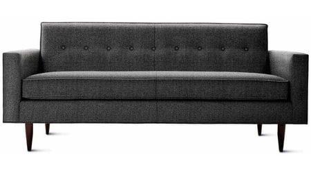 Диван Bantam Sofa Большой Тёмно-серая Шерсть Р
