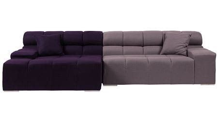 Диван Tufty-Time Sofa Фиолетово-серый Шерсть Р