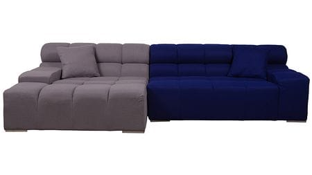Диван Tufty-Time Sofa Серо-синяя Шерсть Р