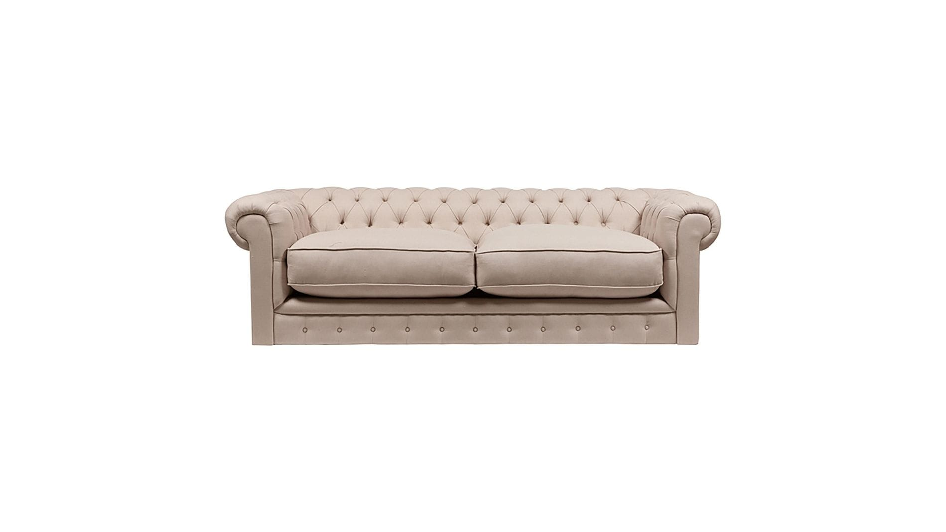 Диван The Pettite Kensington Upholstered Sofa Кремовый Лен Р
