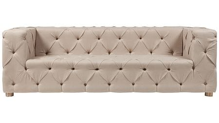 Диван Soho Tufted Upholstered Sofa Кремовый Лен
