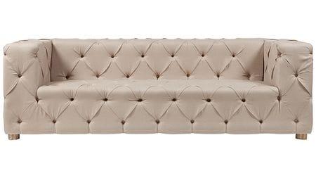 Диван Soho Tufted Upholstered Sofa Кремовый Лен