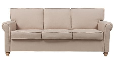 Диван The Pettite Lancaster Upholstered Sofa Кремовый Лен Р