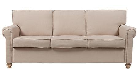 Диван The Pettite Lancaster Upholstered Sofa Кремовый Лен Р