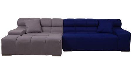 Диван Tufty-Time Sofa серо-синяя шерсть, коричневый Р