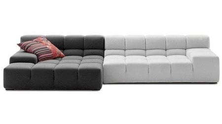 Диван Tufty-Time Sofa Бело-Серая шерсть Р