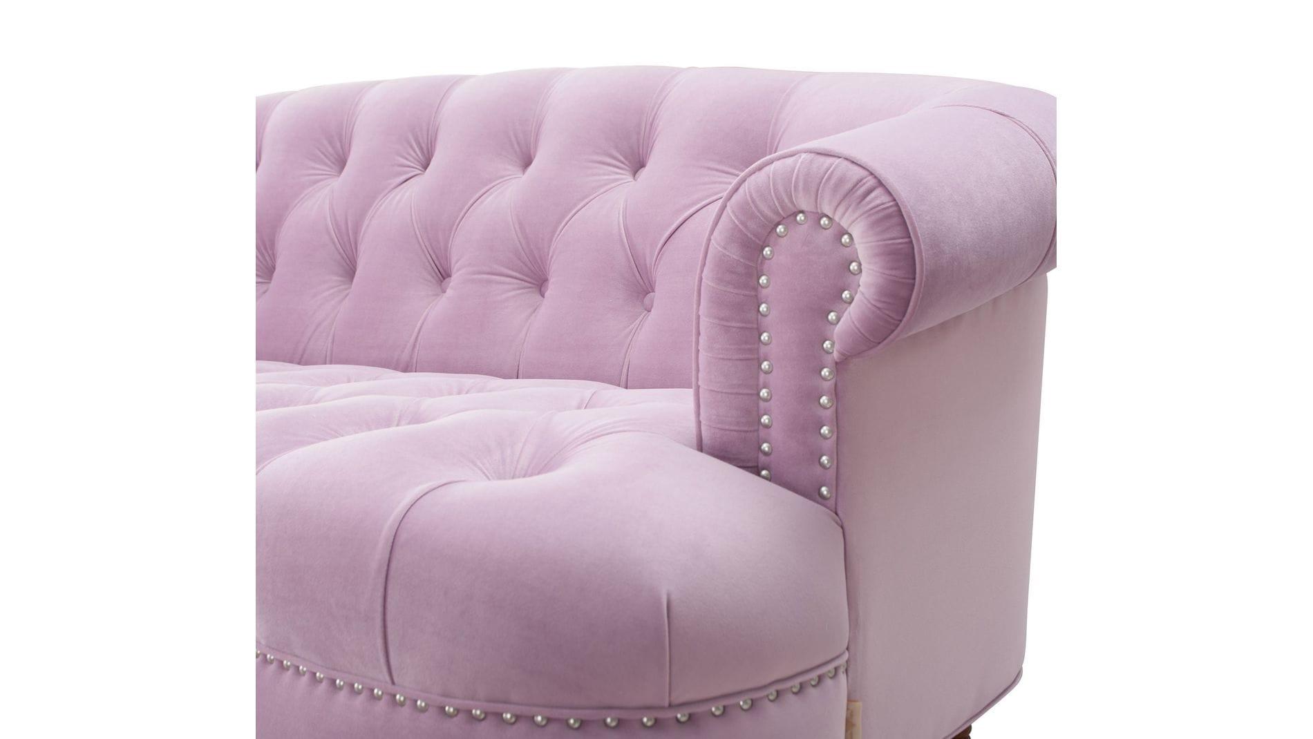 Диван La Rosa трехместный Розовый Велюр Р