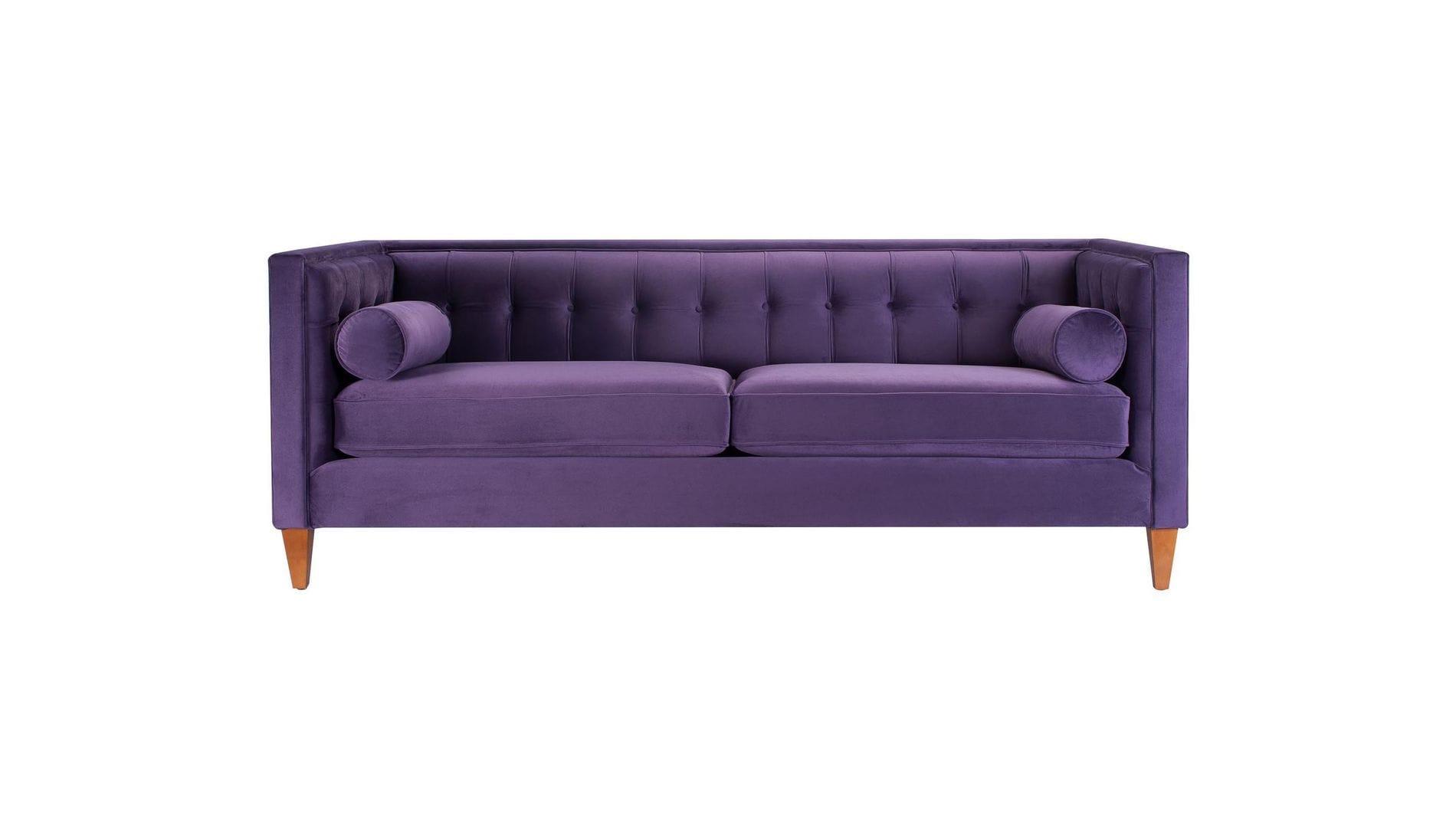 Диван Jack трехместный Пурпурный Велюр Р