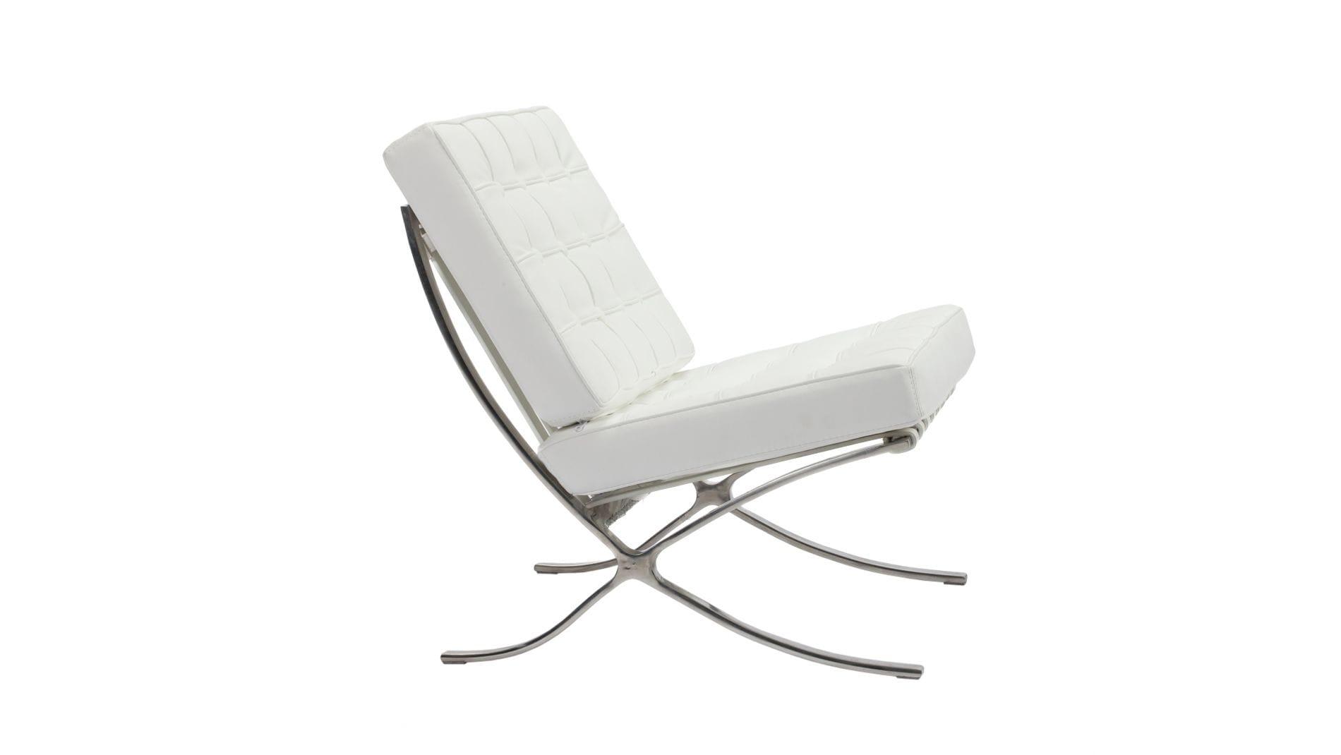 Детское кресло Barcelona Chair Белая Экокожа Р