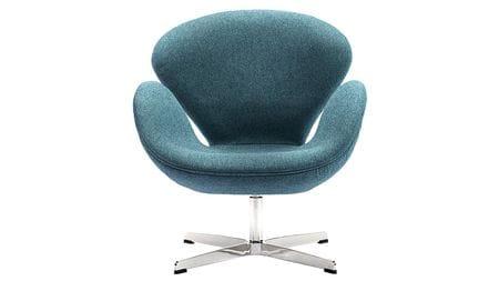 Кресло Swan Chair Сине-зеленая Шерсть М