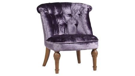 Кресло Sophie Tufted Slipper Chair Фиолетовый Вельвет М
