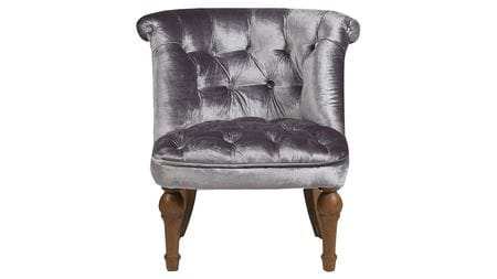 Кресло Sophie Tufted Slipper Chair Серый Вельвет М