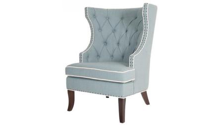 Кресло Gramercy Club Chair Бирюзовый Лен