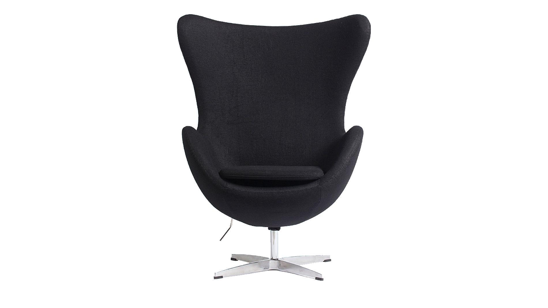 Кресло Egg Chair Черный Кашемир