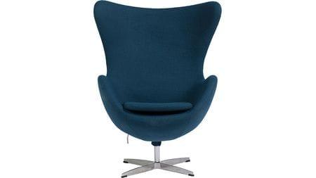 Кресло Egg Chair Сине-зелёное 100% Кашемир М