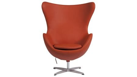 Кресло Egg Chair Терракотовая Кожа