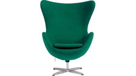 Кресло Egg Chair Зелёно-голубое 100% Шерсть М