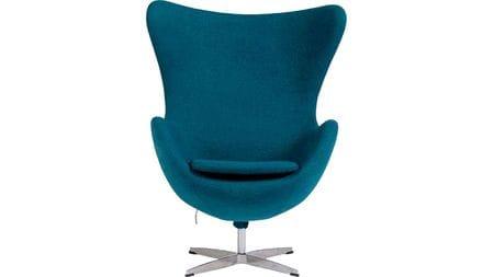 Кресло Egg Chair Аквамариновое 100% Шерсть М