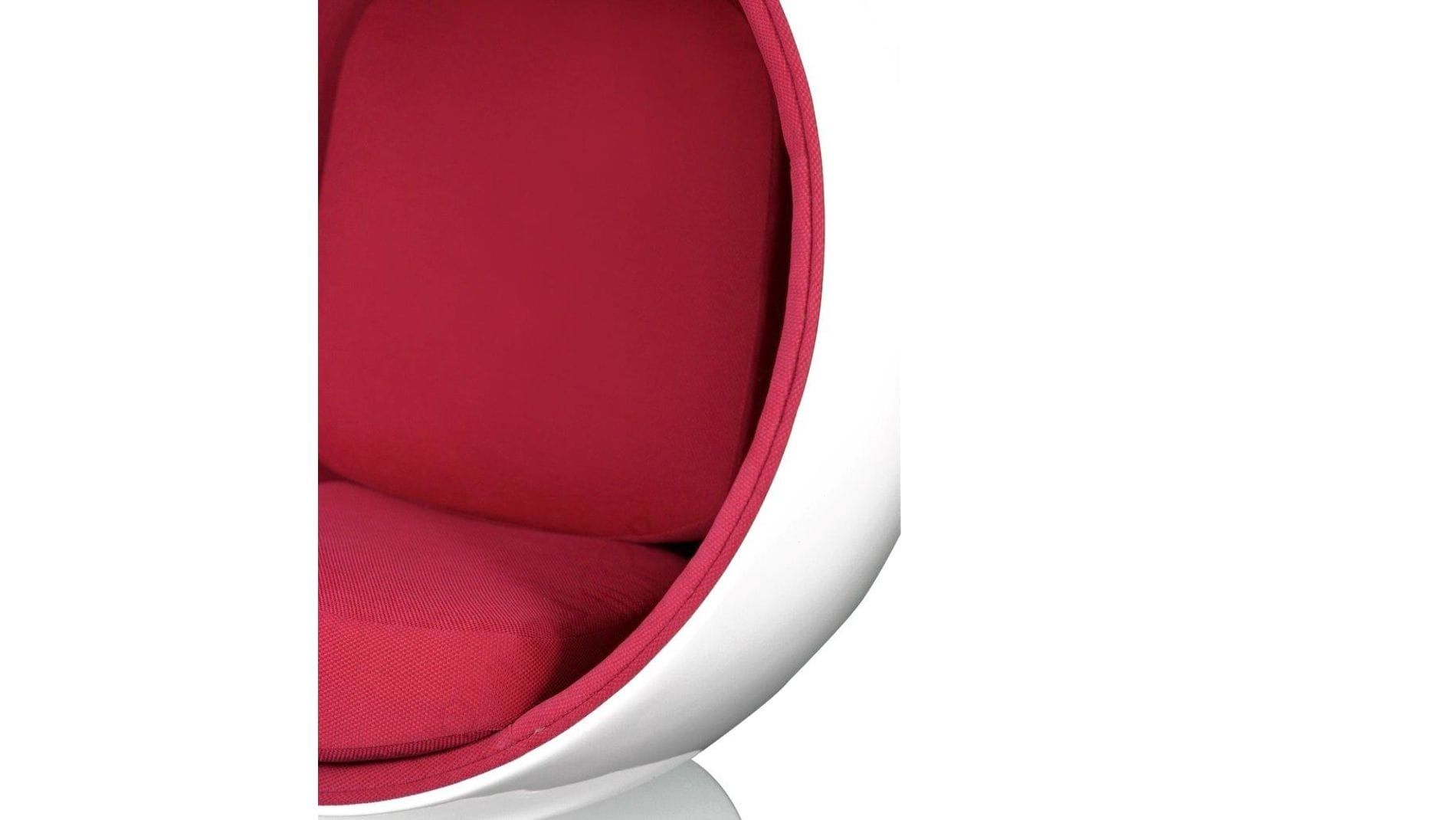 Кресло Eero Ball Chair Бело-красное Шерсть