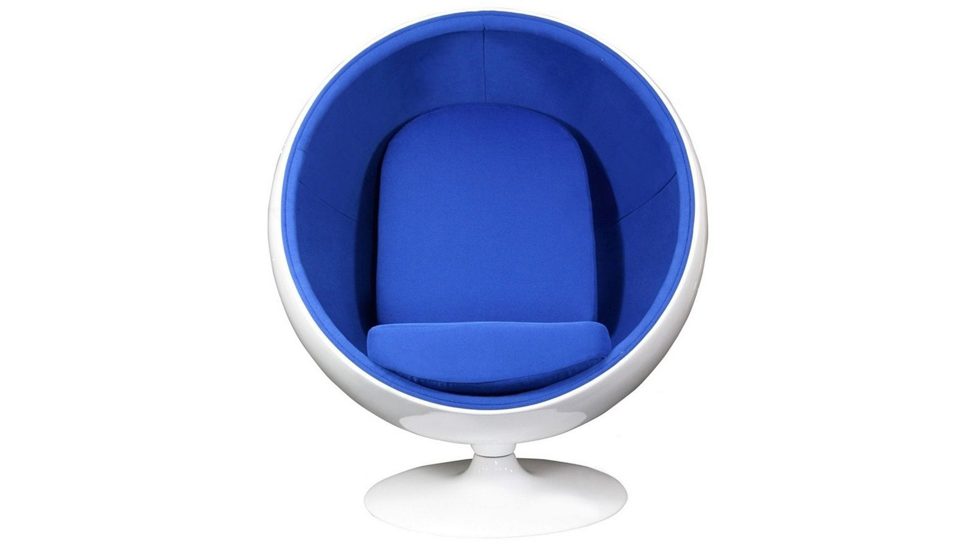 Кресло Eero Ball Chair Dark Blue