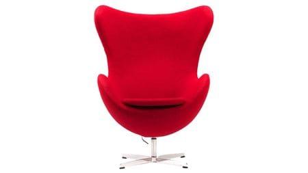Кресло Egg Chair Красное 100% Шерсть М