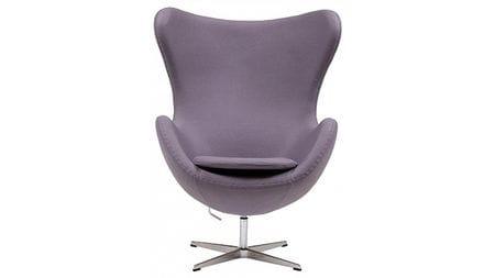 Кресло Egg Chair Серо-фиолетовый Кашемир