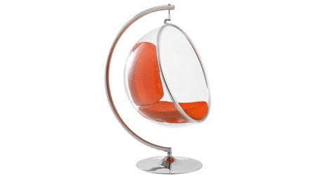 Кресло Bubble Chair with Stand Оранжевая Экокожа
