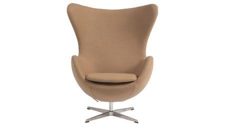 Кресло Egg Chair Коричневое 100% Кашемир М
