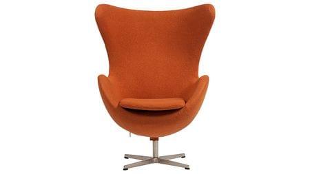 Кресло Egg Chair Оранжевое 100% Кашемир М