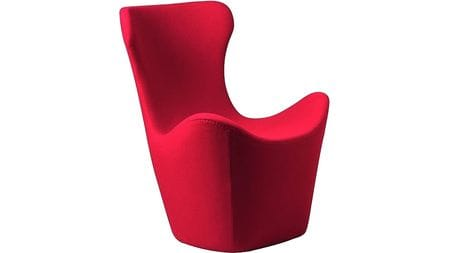 Кресло Papilio Lounge Chair Красное Кашемир М