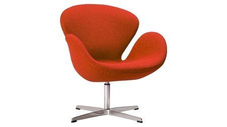 Кресло Swan Chair Красная Шерсть М