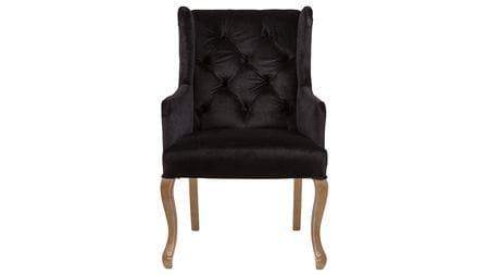 Кресло Ashby Chair Черный Вельвет