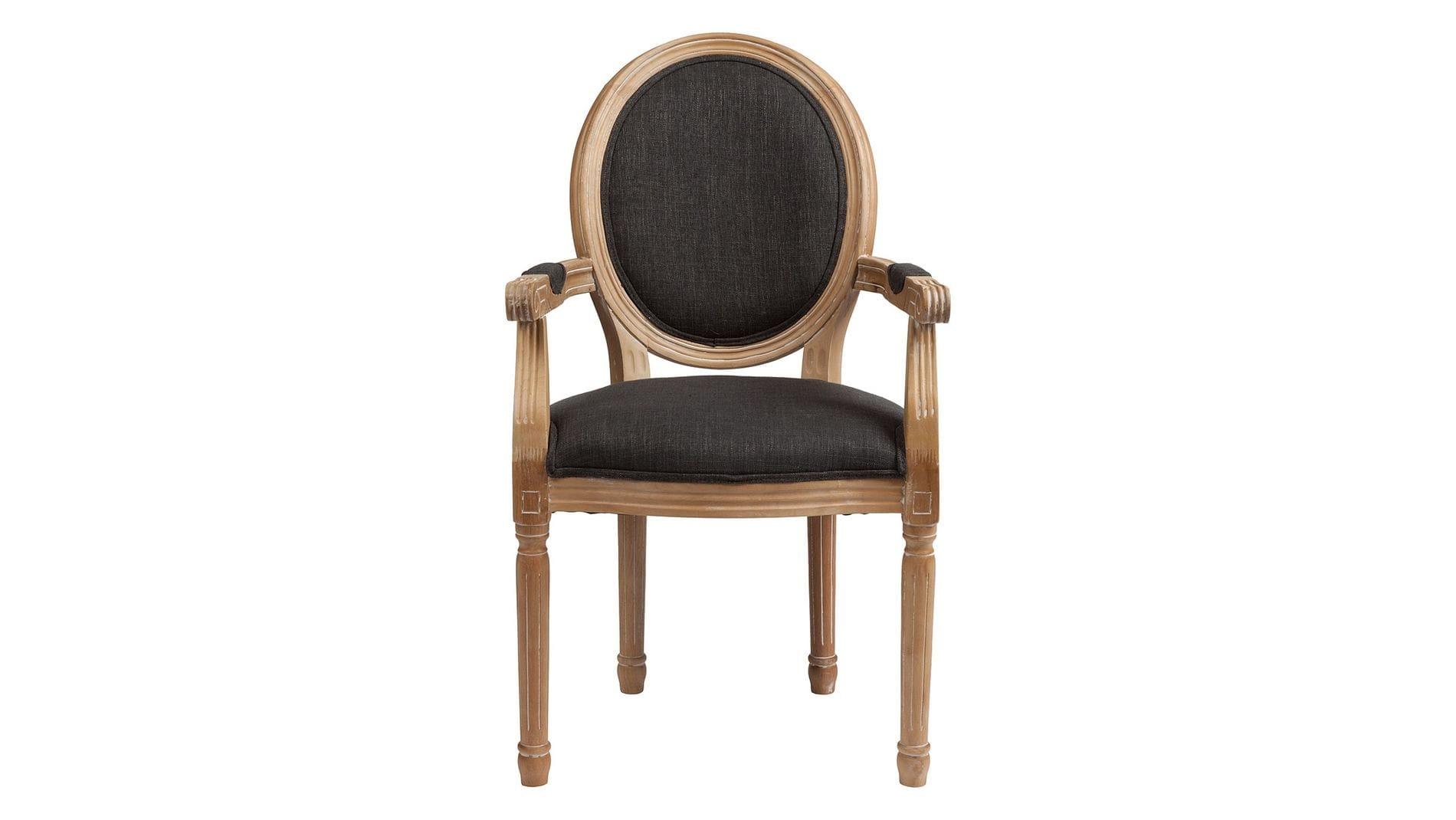 Кресло Pollina Темно-серый Хлопок