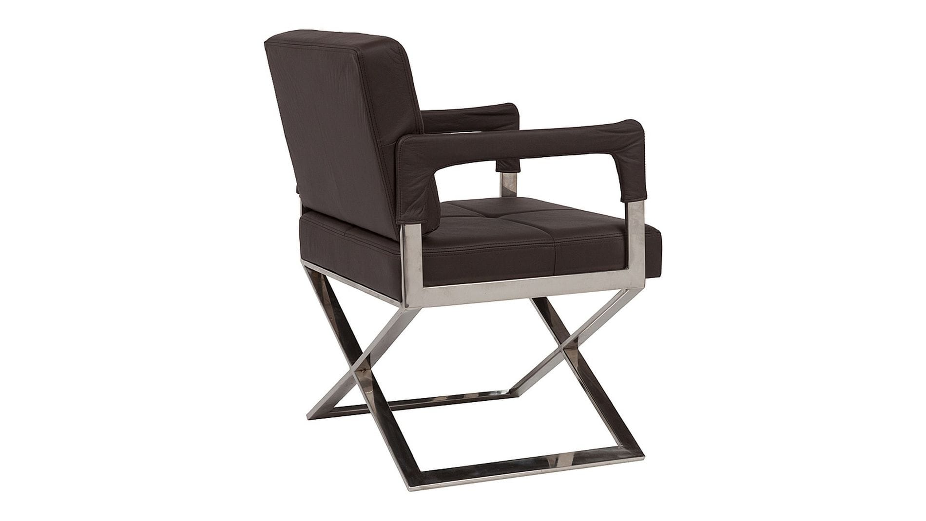 Кресло Aster X Chair Темно-коричневая Кожа Класса Премиум