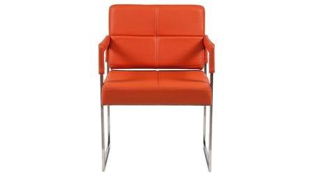 Кресло Aster Chair Оранжевая Кожа Класса Премиум