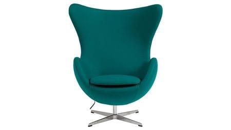 Кресло Egg Chair Изумрудное 100% Кашемир М