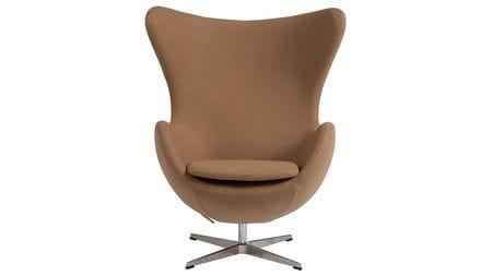 Кресло Egg Chair Тёмно-бежевое 100% Кашемир М