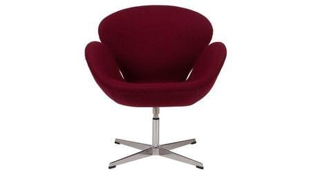 Кресло Swan Chair Бордовая Шерсть М