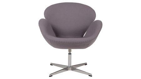 Кресло Swan Chair Серая Шерсть М