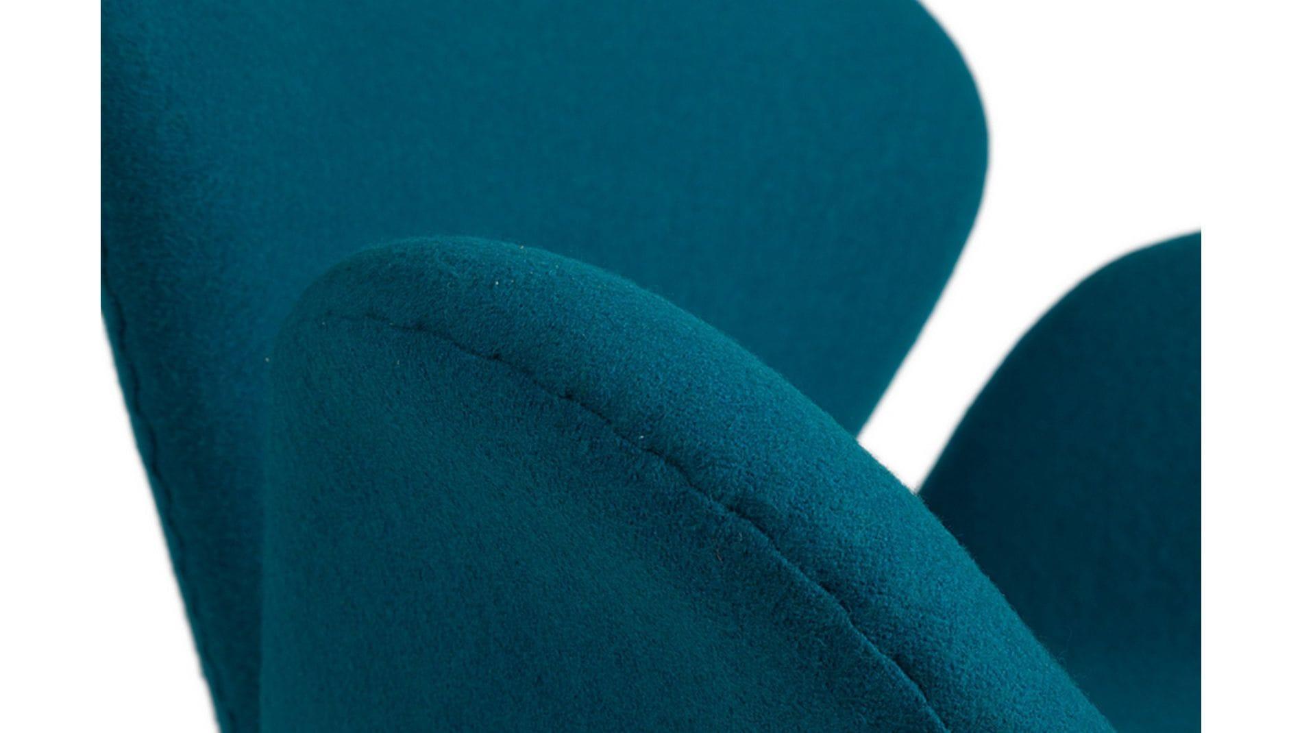 Кресло Swan Chair Темно-голубая Шерсть М