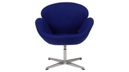 Кресло Swan Chair Синяя Шерсть М