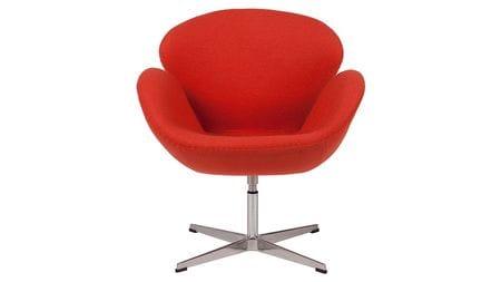 Кресло Swan Chair Алая Шерсть М