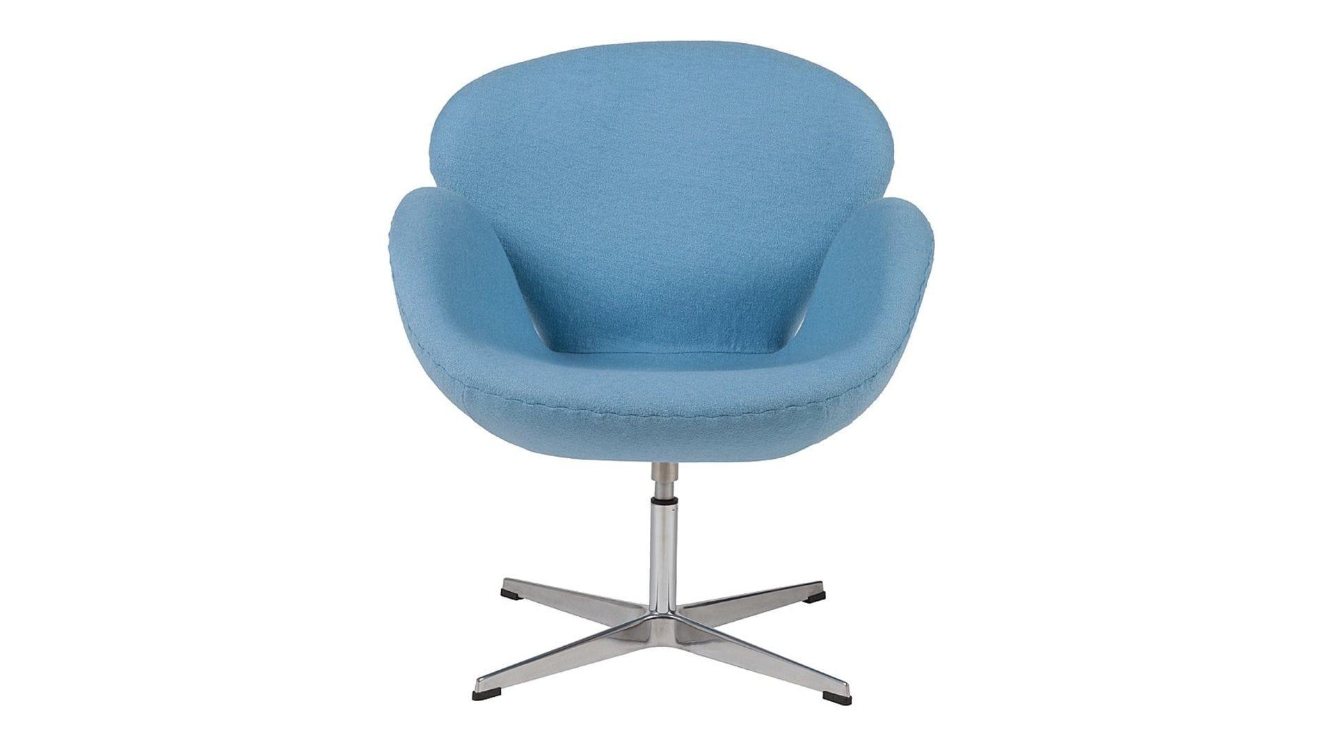 Кресло Swan Chair Голубая Шерсть М